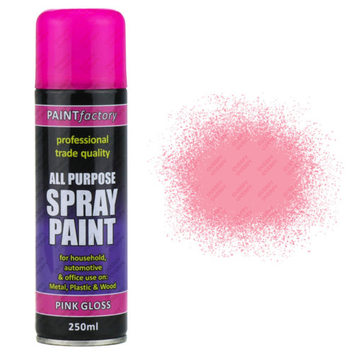 All Purpose Pink Gloss 250ml Spray Paint