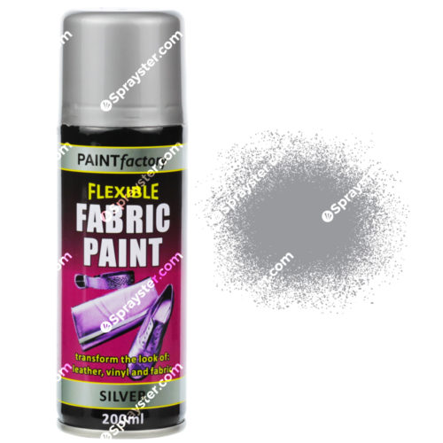 Silver Fabric Spray Paint 200ml - Sprayster