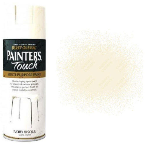 Rust-Oleum Painters Touch Ivory Bisque White Gloss 400ml